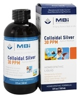 Image of MBI Nutraceuticals - Colloidal Silver Homeopathic Immune Defense 30 Ppm - 8 oz.