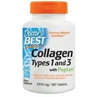 Image of Doctor's Best - Best Collagen Types 1 & 3 1000 mg. - 180 Tablets