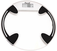 Escali - Precision Body Weight Glass Platform Round Digital Bathroom Scale B180RC Clear