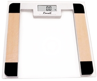 Escali - Precision Body Weight Glass Platform Square Digital Bathroom Scale B180SC Clear - $29.95