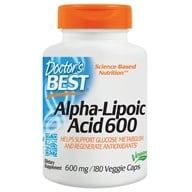 Doctor's Best - Best Alpha Lipoic Acid 600 mg. - 180 Vegetarian Capsules (753950002494)