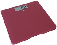 Escali - Precision Body Weight Glass Platform Square Digital Bathroom Scale B200RR Rio Red