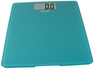 Escali - Precision Body Weight Glass Platform Square Digital Bathroom Scale B200PB Peacock Blue