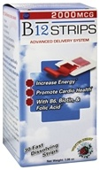 Essential Source - B12 Strips Advanced Delivery System Winter Berry 2000 mcg. - 30 Strip(s), from category: Vitamins & Minerals