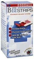 Essential Source - B12 Strips Advanced Delivery System Winter Berry 2000 mcg. - 30 Strip(s) by Essential Source