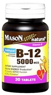 Mason Natural - Vitamin B-12 Dietary Supplement 5000 mcg. - 30 Sublingual Tablets