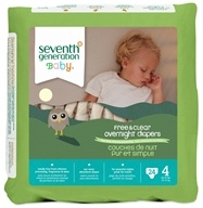 Seventh Generation - Overnight Diapers Stage 4 (22-37 lbs.) - 24 Diaper(s), from category: Baby & Child Health