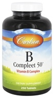 Carlson Labs - B-Compleet-50 Vitamin B Complex - 250 Tablets, from category: Vitamins & Minerals