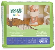 Seventh Generation - Free and Clear Training Pants Unisex 2T-3T (Up To 34 Lbs.) - 25 Pack