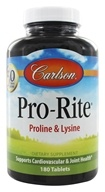 Carlson Labs - Pro-Rite Proline & Lysine - 180 Tablets, from category: Nutritional Supplements