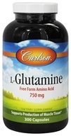 Carlson Labs - L-Glutamine 750 mg. - 300 Capsules by Carlson Labs