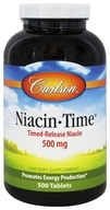 Carlson Labs - Niacin-Time 500 mg. - 500 Tablets (088395027956)