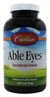 Carlson Labs - Able Eyes Healthy Vision - 180 Softgels - $78