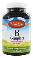 Carlson Labs - B-Compleet Vitamin B Complex with Vitamin C - 180 Tablets - $15.61