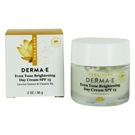 Image of Derma-E - Evenly Radiant Brightening Day Crème 15 SPF - 2 oz.