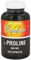 Image of Carlson Labs - L-Proline 500 mg. - 100 Capsules