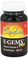 Carlson Labs - E-Gems Plus 400 IU - 50 Softgels, from category: Vitamins & Minerals