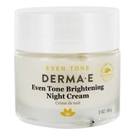 Derma-E - Evenly Radiant Brightening Night Creme With Vitamin C - 2 oz. - $17.46