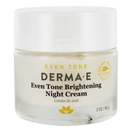 DERMA-E - Even Tone Brightening Facial Night Cream - 2 oz.
