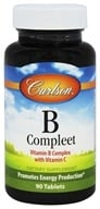 Carlson Labs - B-Compleet Vitamin B Complex with Vitamin C - 90 Tablets by Carlson Labs