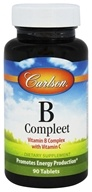 Carlson Labs - B-Compleet Vitamin B Complex with Vitamin C - 90 Tablets