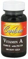 Carlson Labs - Vitamin A with Pectin 25000 IU - 100 Softgels (088395011610)