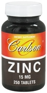Carlson Labs - Zinc 15 mg. - 250 Tablets - $13.73