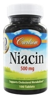 Carlson Labs - Niacin 500 mg. - 100 Tablets (088395027819)