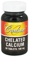 Carlson Labs - Chelated Calcium 100 mg. - 60 Tablets DAILY DEAL, from category: Vitamins & Minerals