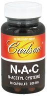 Carlson Labs - N-A-C N-Aectyl Cysteine 500 mg. - 60 Capsules, from category: Nutritional Supplements