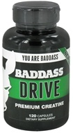 Baddass Nutrition - Drive Premium Creatine - 120 Capsules CLEARANCE PRICED (741360399549)