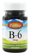 Image of Carlson Labs - Vitamin B-6 50 mg. - 100 Tablets