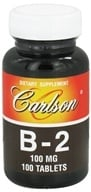 Carlson Labs - Vitamin B-2 100 mg. - 100 Tablets CLEARANCE PRICED