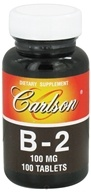 Carlson Labs - Vitamin B-2 100 mg. - 100 Tablets CLEARANCE PRICED - $5.50