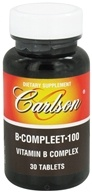 Carlson Labs - B-Compleet-100 Vitamin B Complex - 30 Tablets, from category: Vitamins & Minerals