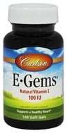 Carlson Labs - E-Gems 100 IU - 100 Softgels (088395003110)