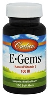 Carlson Labs - E-Gems 100 IU - 100 Softgels - $9.70