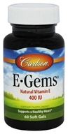 Image of Carlson Labs - E-Gems 400 IU - 60 Softgels