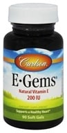 Carlson Labs - E-Gems 200 IU - 90 Softgels, from category: Vitamins & Minerals