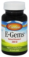 Image of Carlson Labs - E-Gems 200 IU - 90 Softgels