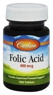 Carlson Labs - Folic Acid 400 mcg. - 300 Tablets - $10.73
