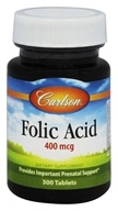 Carlson Labs - Folic Acid 400 mcg. - 300 Tablets (088395026539)