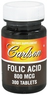 Image of Carlson Labs - Folic Acid 800 mcg. - 300 Tablets