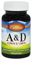 Carlson Labs - Vitamin A & D/25,000 IU & 1,000 IU - 100 Softgels, from category: Vitamins & Minerals