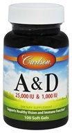 Image of Carlson Labs - Vitamin A & D/25,000 IU & 1,000 IU - 100 Softgels