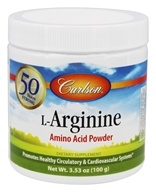 Carlson Labs - L-Arginine Amino Acid Powder 3000 mg. - 100 Grams, from category: Nutritional Supplements