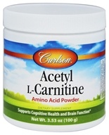 Carlson Labs - Acetyl-L-Carnitine Amino Acid Powder 1200 mg. - 100 Grams (088395079252)