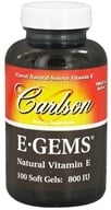 Carlson Labs - E-Gems 800 IU - 100 Softgels