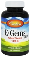 Carlson Labs - E-Gems Elite Natural Vitamin E 1000 IU - 60 Softgels