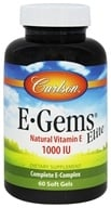 Carlson Labs - E-Gems Elite 1000 IU - 60 Softgels (088395007965)